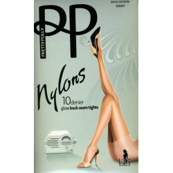 Collant couture Nylons 10 deniers à talon cubain GLOSS  PRETTY POLLY