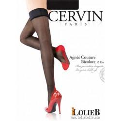 Bas jarreti?re couture bicolore CERVIN Agn