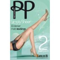 Bas Lycra  Mat 10 deniers SIMPLY SHEER PRETTY POLLY