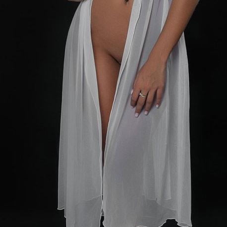 LUXXA CACHOU DESHABILLE Long Blanc