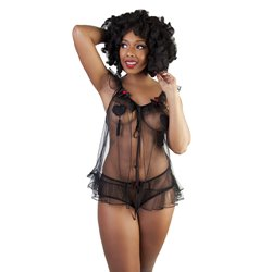 Set Nuisette + culotte Tulle Bettie Page par Playful Promised
